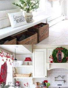 favorite christmas decorating ideas for every room in your home part entryway farmhouse kitchen and living also rh pinterest