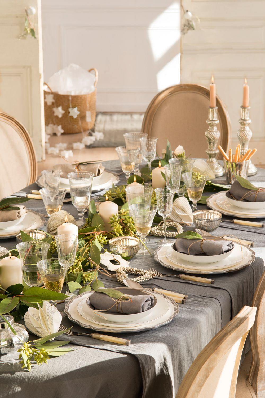 Mesas decoradas para celebrar la Navidad  Mesas de