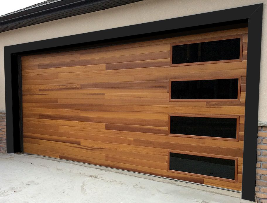 Accent planks on this CHI cedar door make it a strong