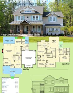 Architectural designs bed house plan vv has an open floor on the main also best images about planning pinterest traditional rh