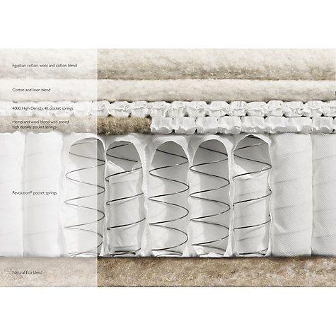 John Lewis Natural Collection 6000 Egyptian Cotton Pocket Spring Mattress Medium King Size