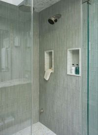Cream Pencil Stone Mosaic Tile | Shower tiles, Glasses and ...