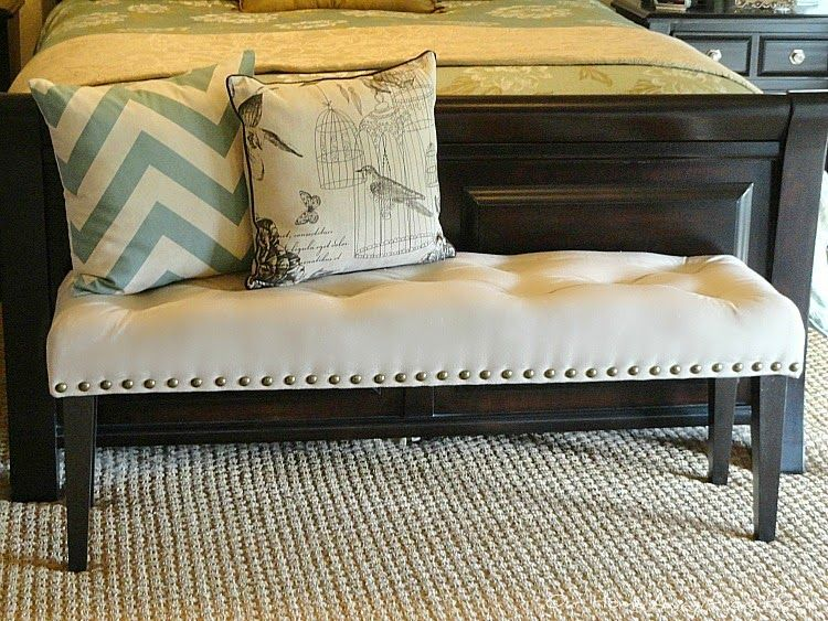 our home away from home: diy drop cloth bench for the master