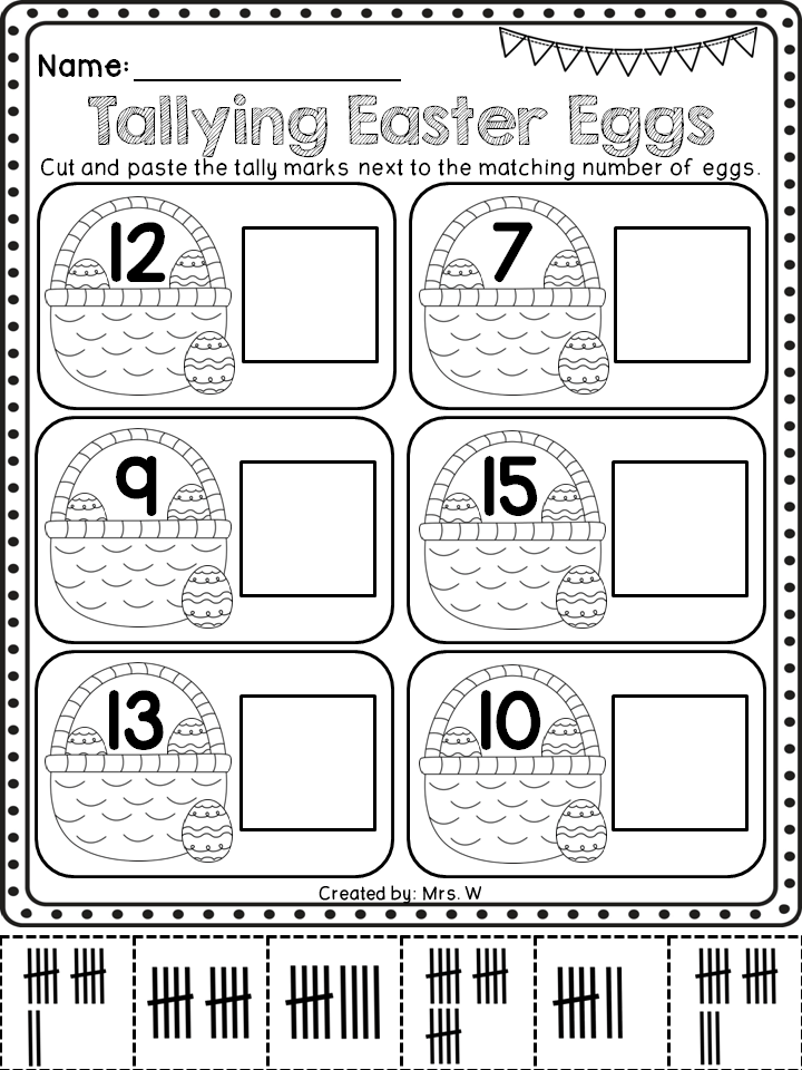 Kindergarten Easter Activity Worksheets. Kindergarten