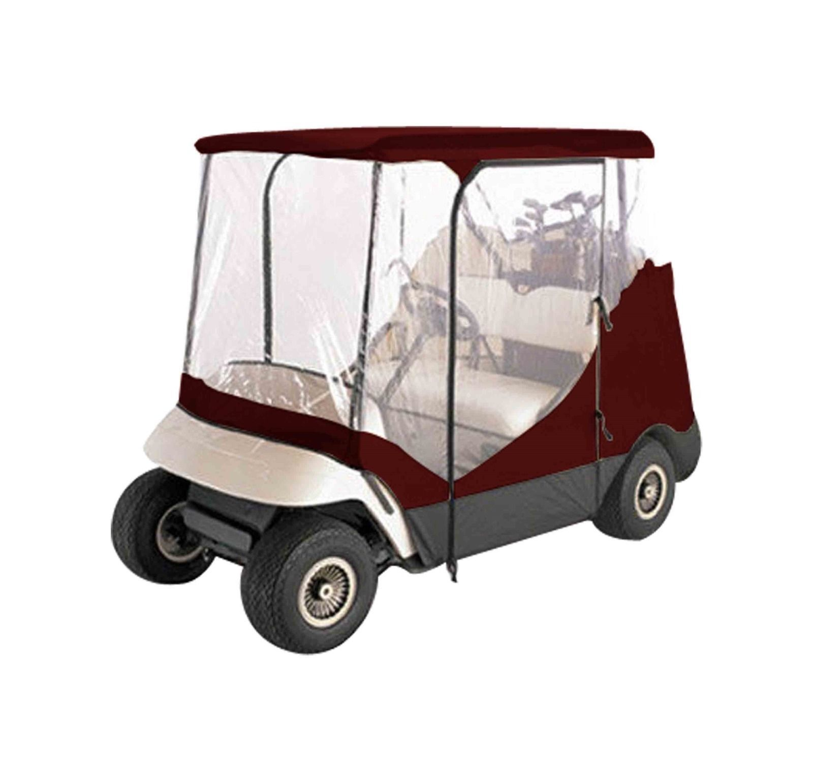 hight resolution of push pull golf carts 75207 burgundy 2 person driving golf cart cover fit
