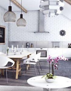 Cool industrial kitchen designs that inspire stunning interior astonishing contemporary white open plan dining also rh za pinterest