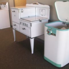 Retro Kitchen Stoves Small Outdoor Ideas Vintage Icebox Images More Appliances In The