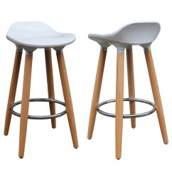 Modern Kitchen Bar Stools Ikea Installation Cost Each Stool Has A White Abs Plastic Seat And Naturally