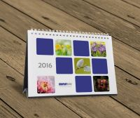 Desk table tent calendar 2016 template design KB10