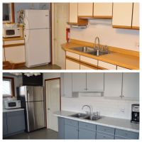 Painting Laminate Cabinets Before And After  Cabinets ...