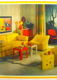 1972 Interior Design Photo Yellow And Red Furniture ...