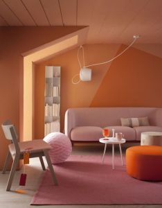 Pink and orange crush colour palette also pin by abigail sadeckas on inspo pinterest colorful couch rh