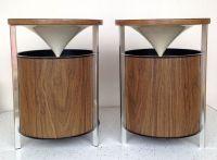 Vintage Mid Century Modern Speakers Set of 2 Round Zenith ...