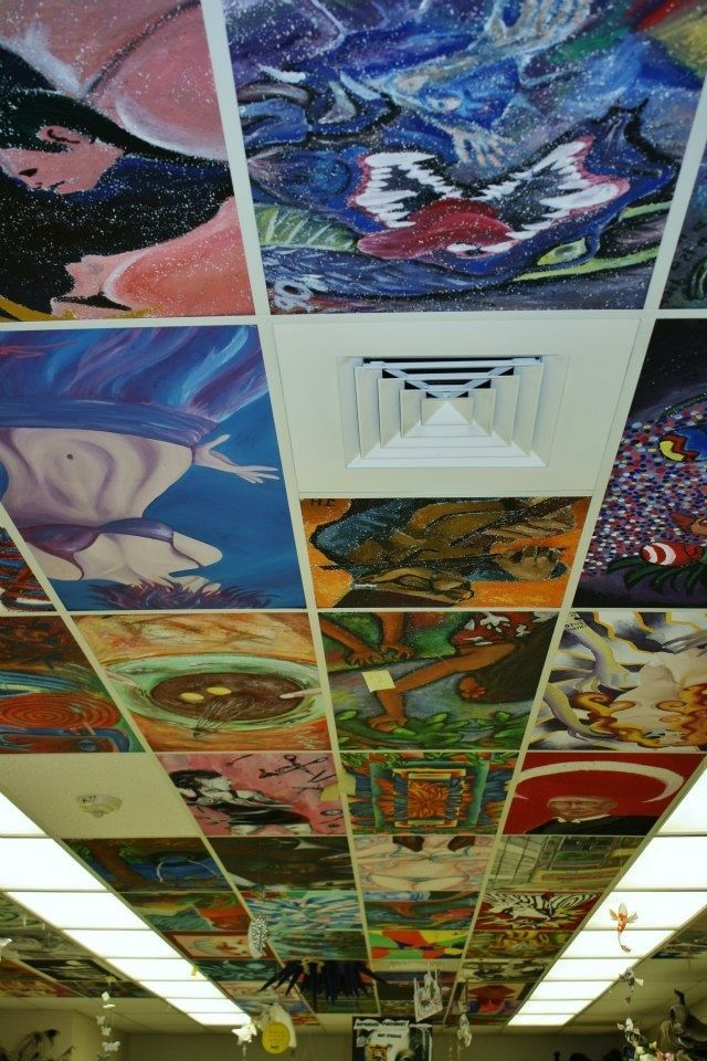 Ceiling Tiles Painted on Pinterest  Ceiling Tiles Tin Ceiling Tiles and Copper Ceiling