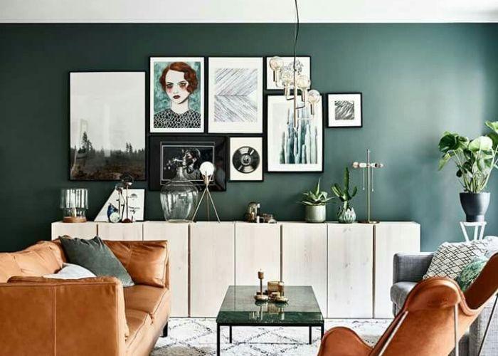 Elle  coration sweden interior ideasinterior designliving roomsliving room also living pinterest green wall color