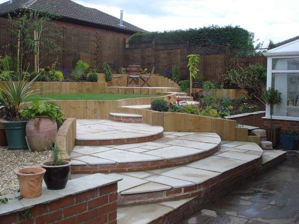 Terraced Sloping Garden Lush Landscape & Garden Design Lush