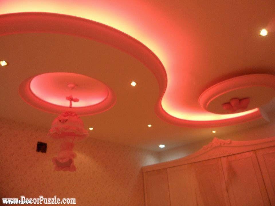 Cool Pop False Ceiling Design For Nursery Or Kids Room With Led Lights
