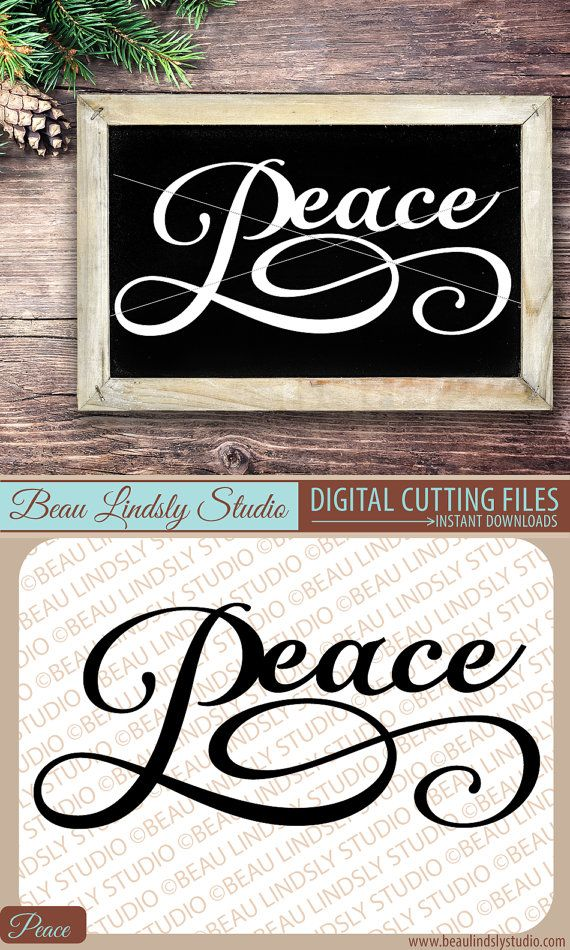 christmas svg cutting file peace