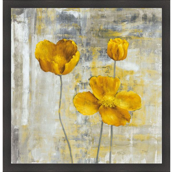 Carol black  yellow flowers ii framed artwork liked on polyvore also rh pinterest