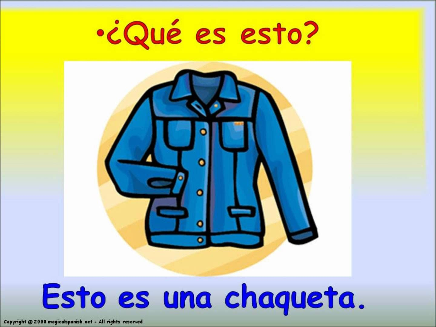 Best En Espanol La Ropa Images Clothes Time In Spanish Ideas English Five Free