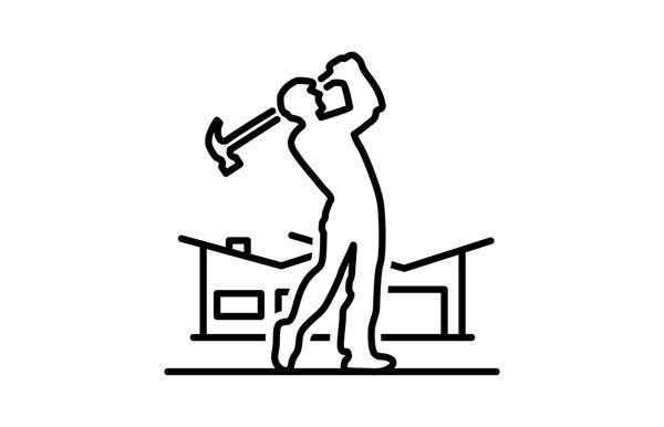 logo design for charity golf tournament benefiting Habitat