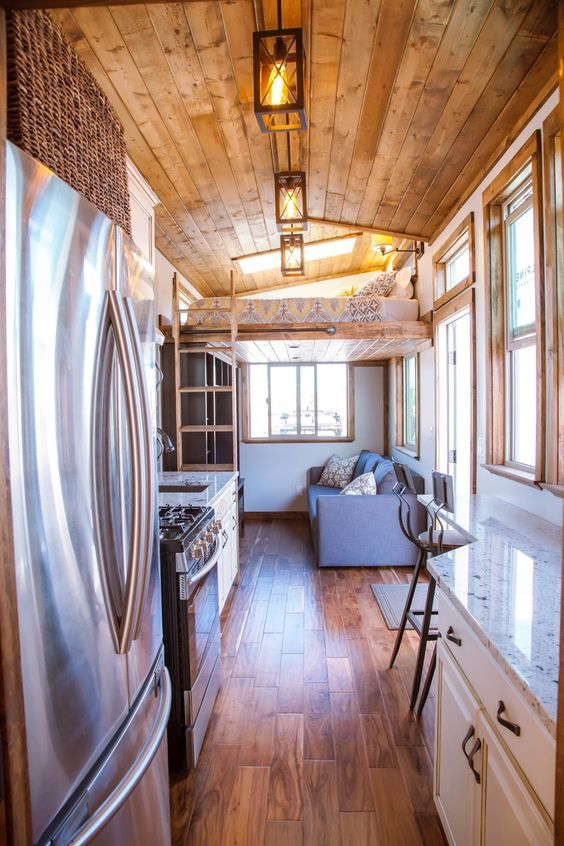 The Teton From Alpine Tiny Homes Stunning House On Wheels Home Fashion  Pinterest Houses And Interior