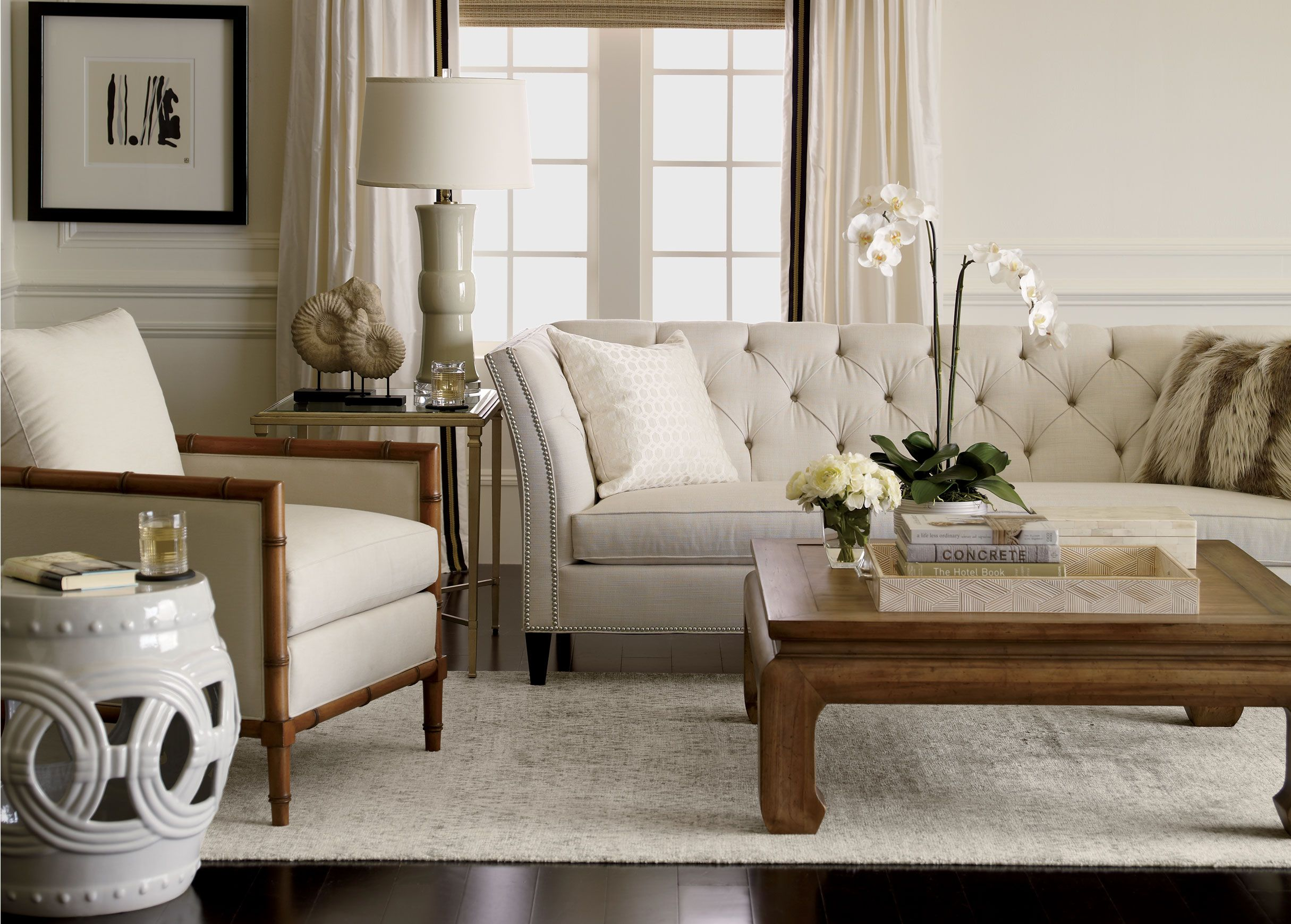 Classic neutral meets natural in a comfortably modern mix