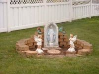 Mary Grotto for Garden Back Yard | Marie's March: Blessed ...