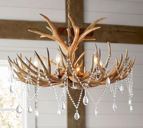 For Festive Get Togethers Turn A Chandelier Into Glimmering Showpiece Our Crystal Garland Instantly Adds Drama And Glamour