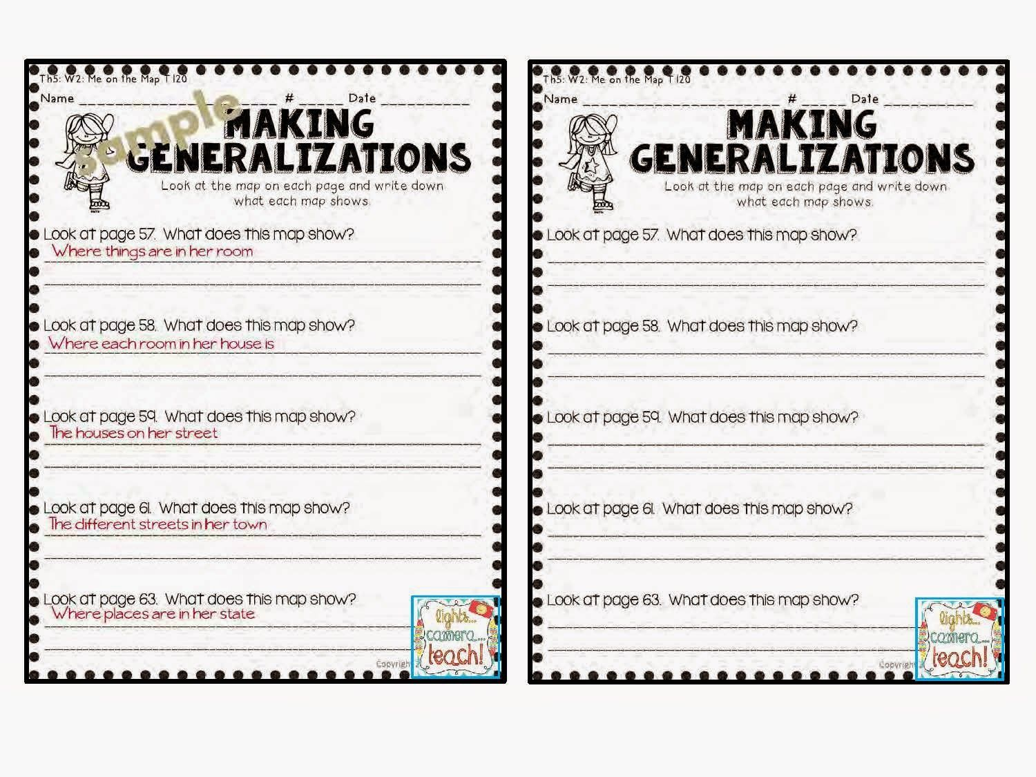 Making Generalizations Comprehension Skill This Resource