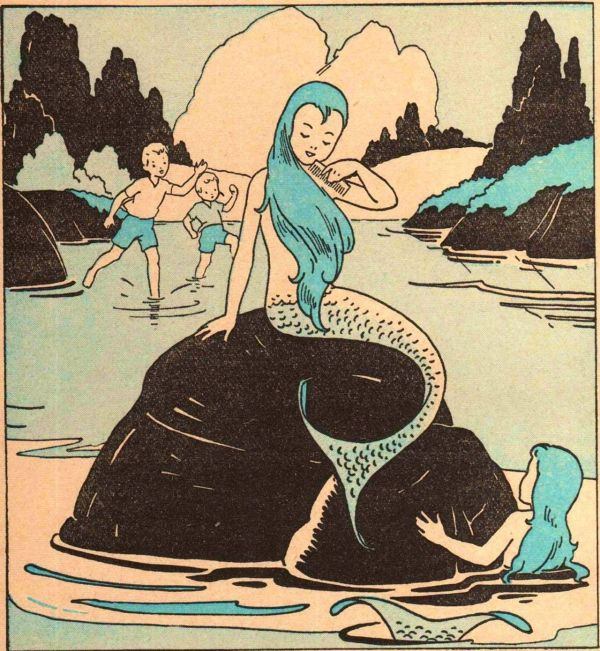 Vintage Mermaid Illustration Book