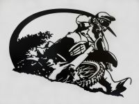 Motocross Rider Metal Wall Art by SunsetMetalworks on Etsy ...