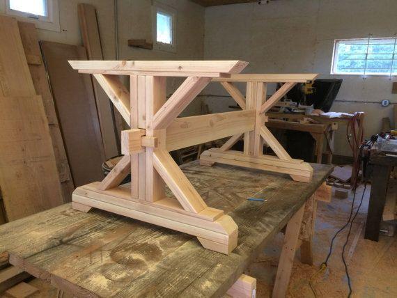 Farmhouse Trestle Table DIY Kit By LakeshoreHnH On Etsy Home Decor Pinterest Trestle