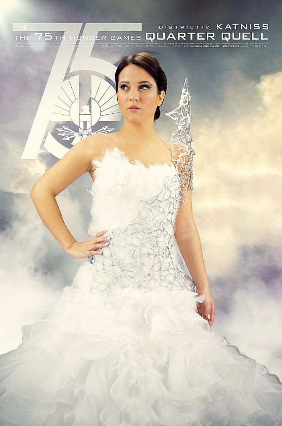 Katniss Everdeen Mockingjay Wedding Interview Dress Cosplay
