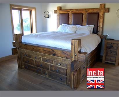 Plank Wooden Sleeper Drawer Bed Furniture All Handmade By Incite Interiors Solid