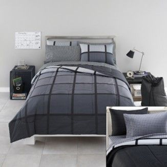 Guys dorm bed set in x long twin. College dorm XL bedding