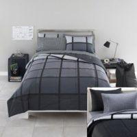 Guys dorm bed set in x long twin. College dorm XL bedding