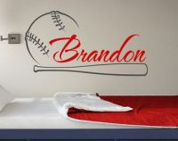 Baseball Wall Decal Name Baseball Personalized Boy by