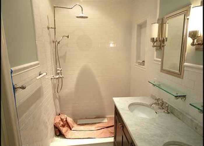Quiet moments benj moore for final bathroom  glass tile wall farmhouse master pinterest white subway tiles and also