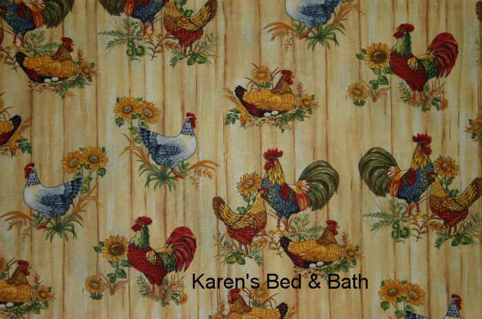 Kitchen Curtains Rooster Design Design Or Vintage