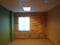 Faux Log Cabin Wall Acrylic on base of painted concrete ...
