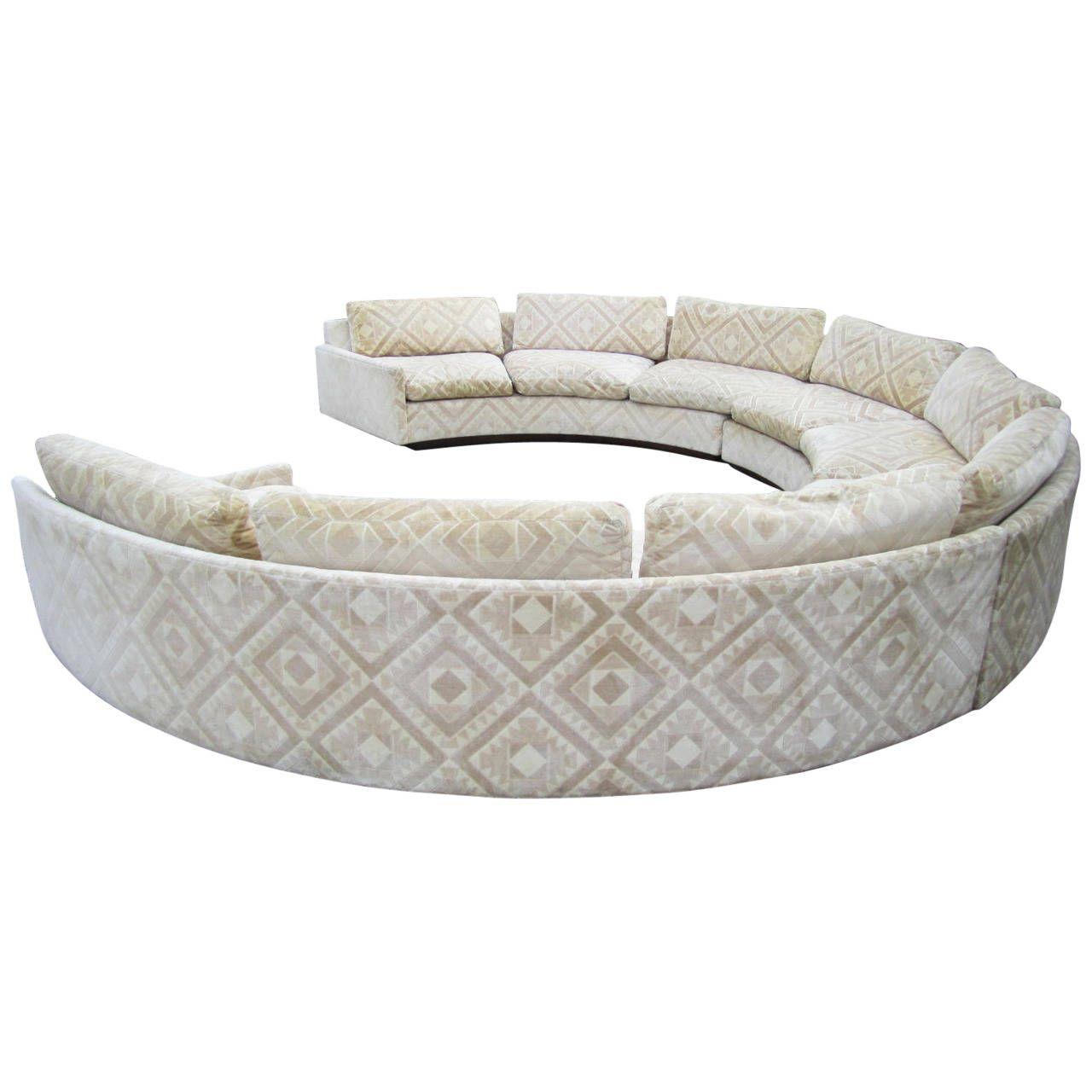 circular sofas dallas spectacular three piece milo baughman sofa mid