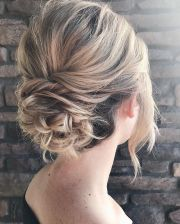 elegant hairstyles - romantic wedding