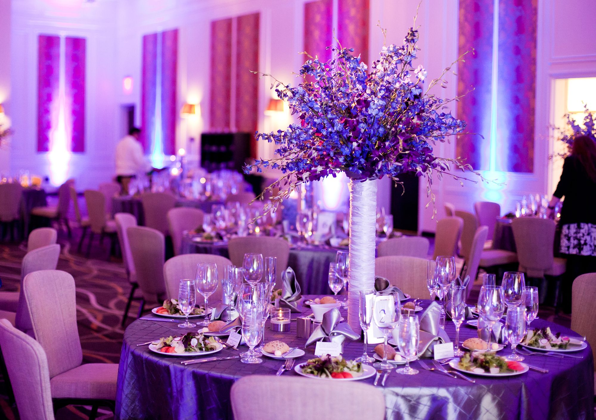 Ice Blue And Purple Wedding Decorations