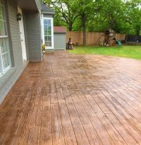 Stamped concrete designs are able to provide the same ...