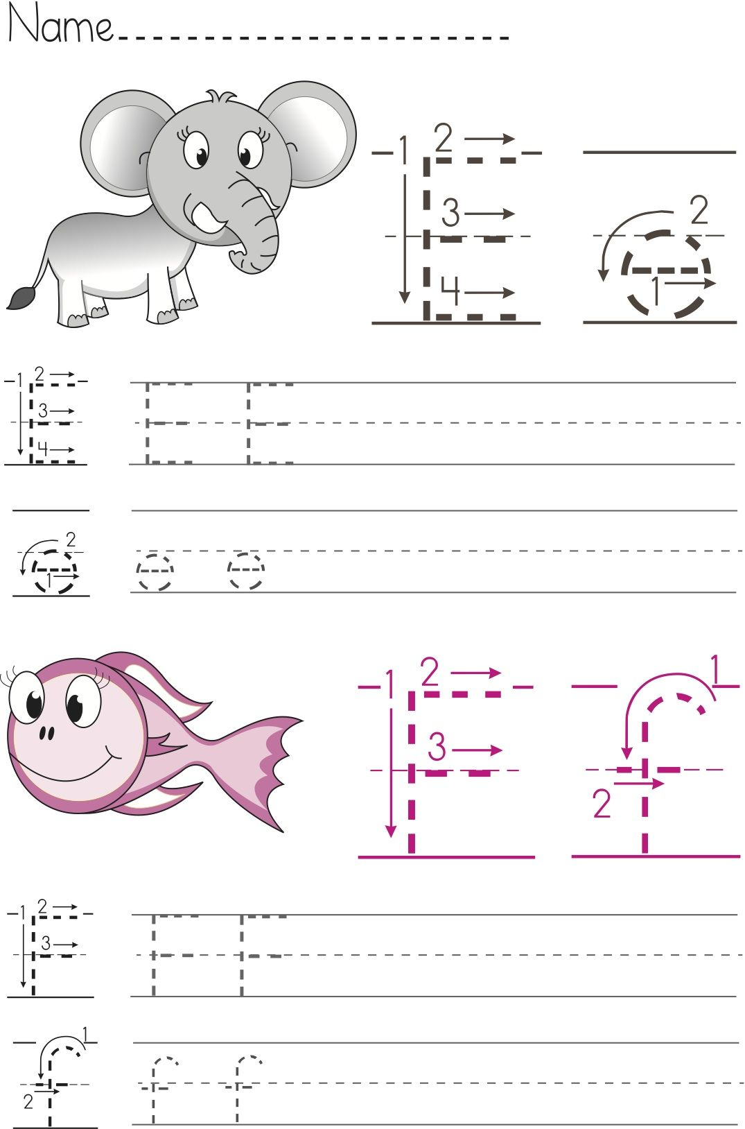 Free Writing Worksheets For Preschool And Kindergarten