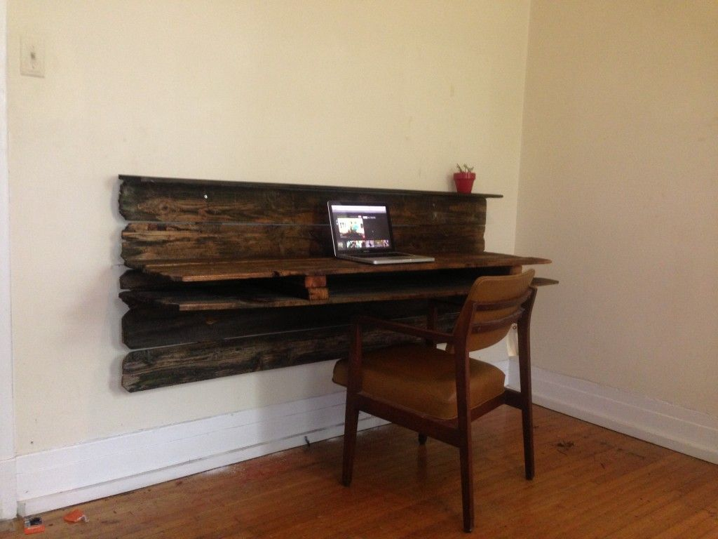 Rustic floating desk and chair  Reimagined Desks and