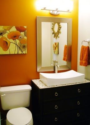 Burnt Orange Bathroom Rugs