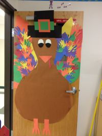 Classroom door decor- Thanksgiving and I would add the ...