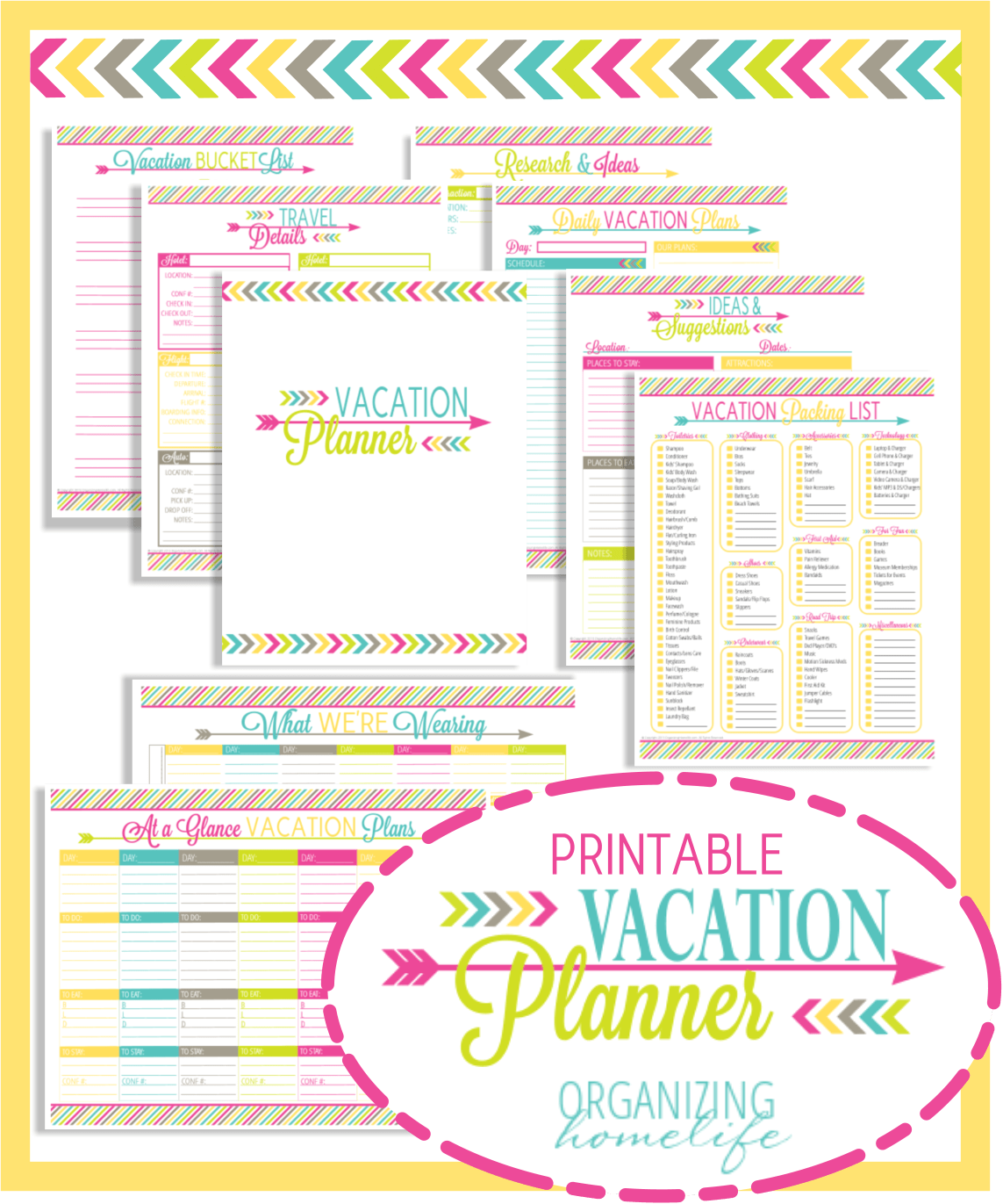 Vacation Planner Printable Pack This Looks Amazing Would